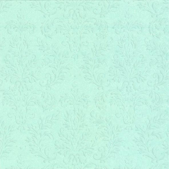 Servietter embossed - Ice blue 16 stk