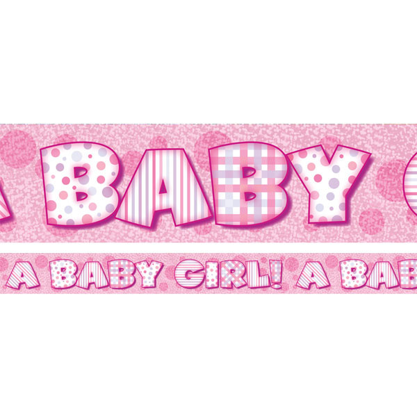 Banner - A baby girl
